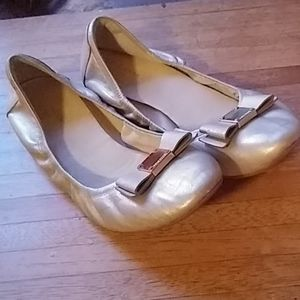 Cole Haan size 10 gold ballet slippers